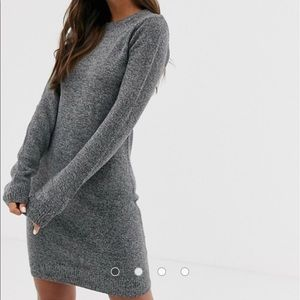 ASOS Sweater Dress XS Gray